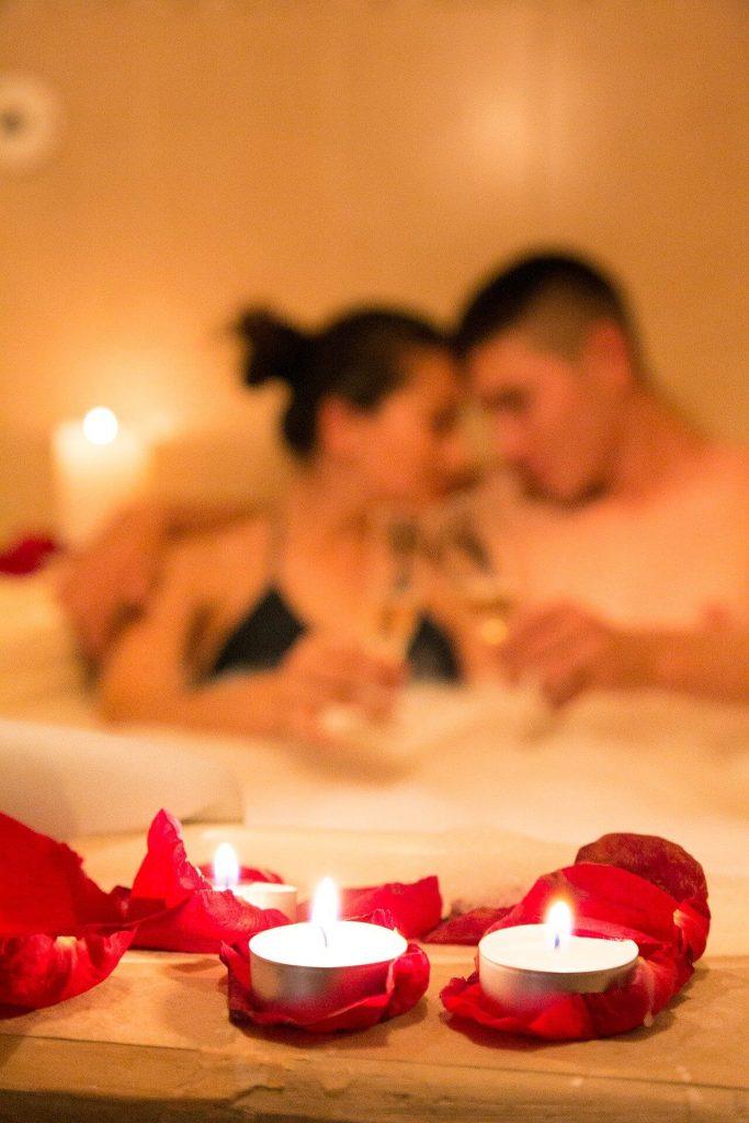 couple bain romance