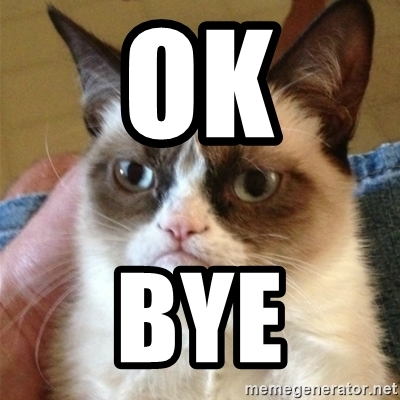 ok bye grumpy cat
