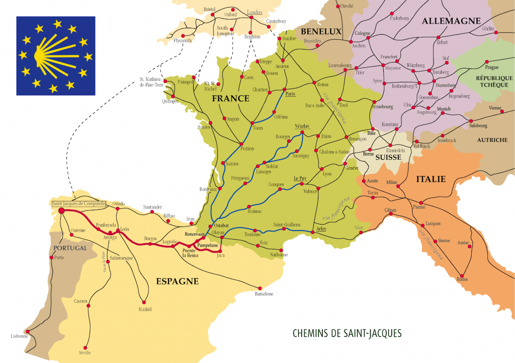 carte chemin de Jacques