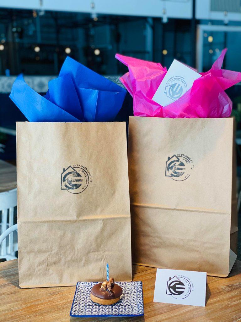 cadeaux sac en papier