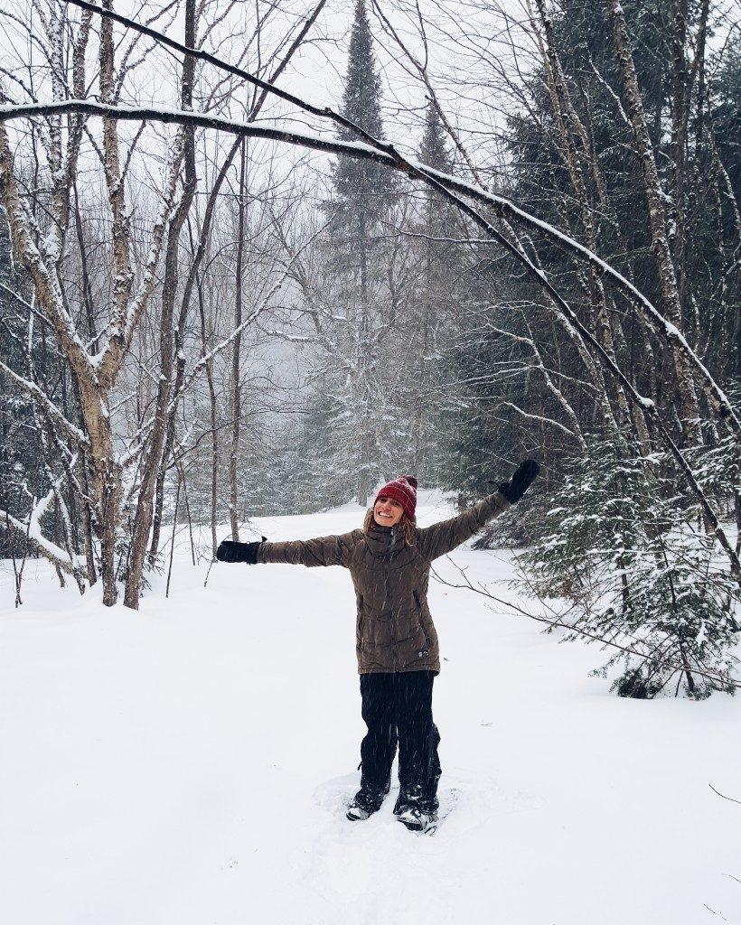 Camille Dg Tremblant neige raquette