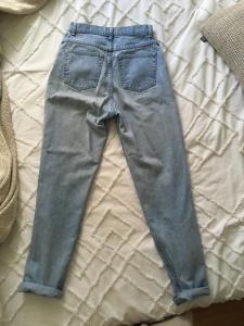 mom jeans bleu pale