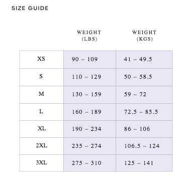 size guide sheertex