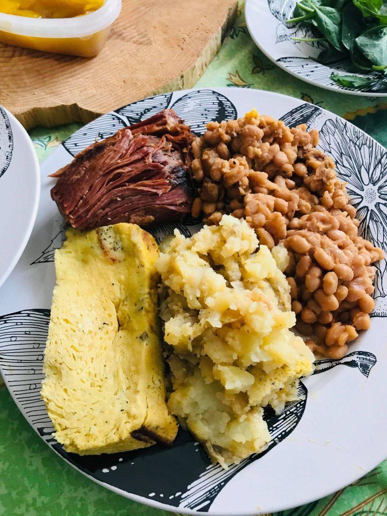 Ma cabane à la maison, repas, menu