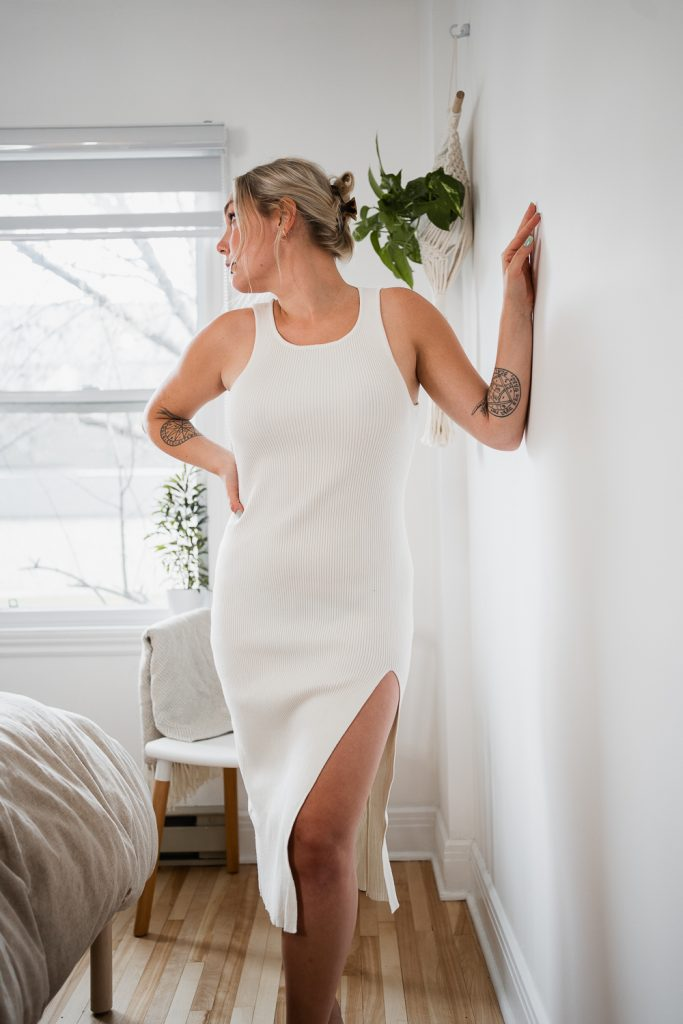 robe blanc blond