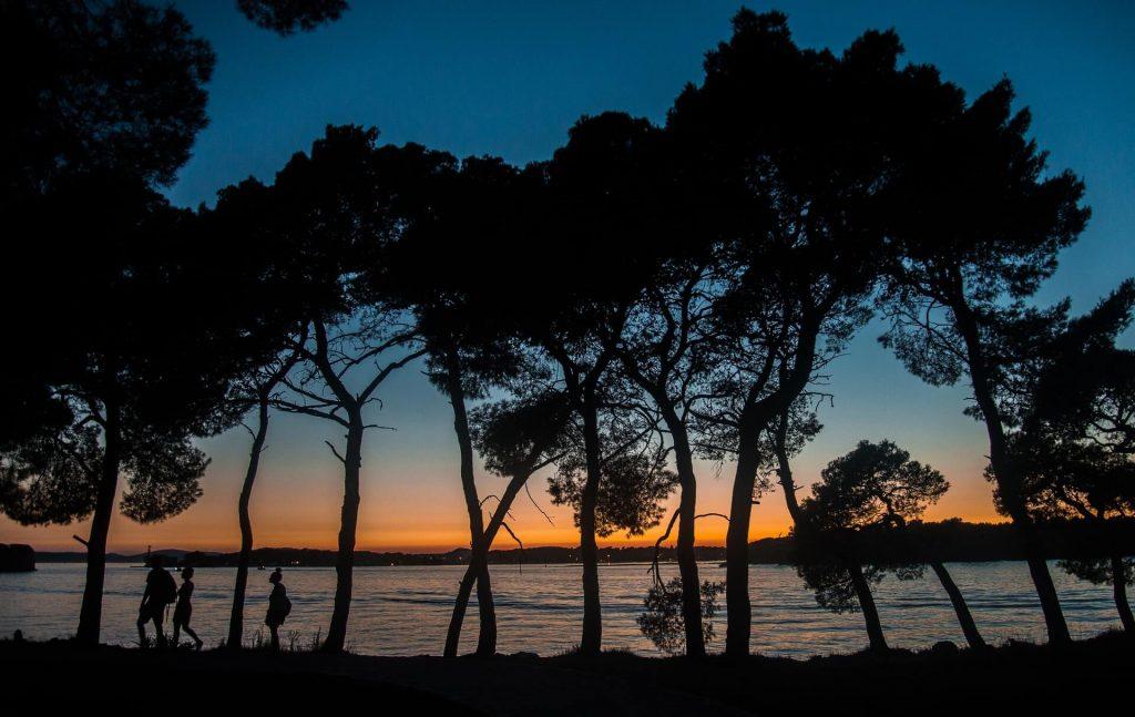coucher de soleil, seul, solitude, paysage