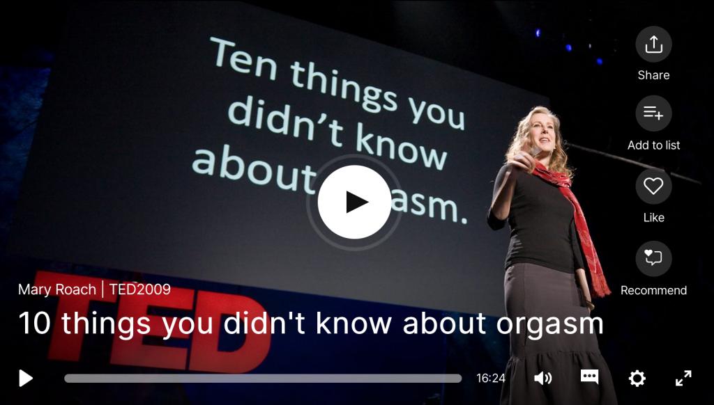 TED Talk sexe orgasme