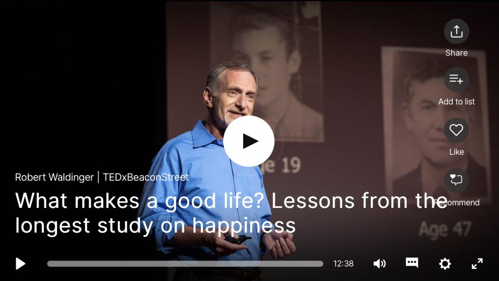 TED Talk bonheur étude