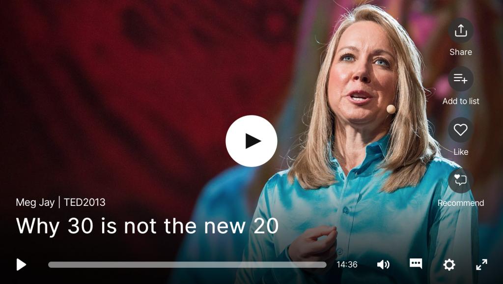 TED Talk vingtaine décennie