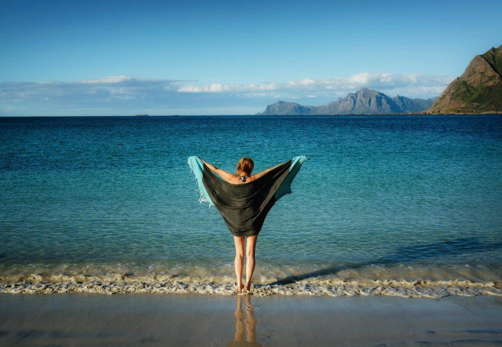 corps, été, plage