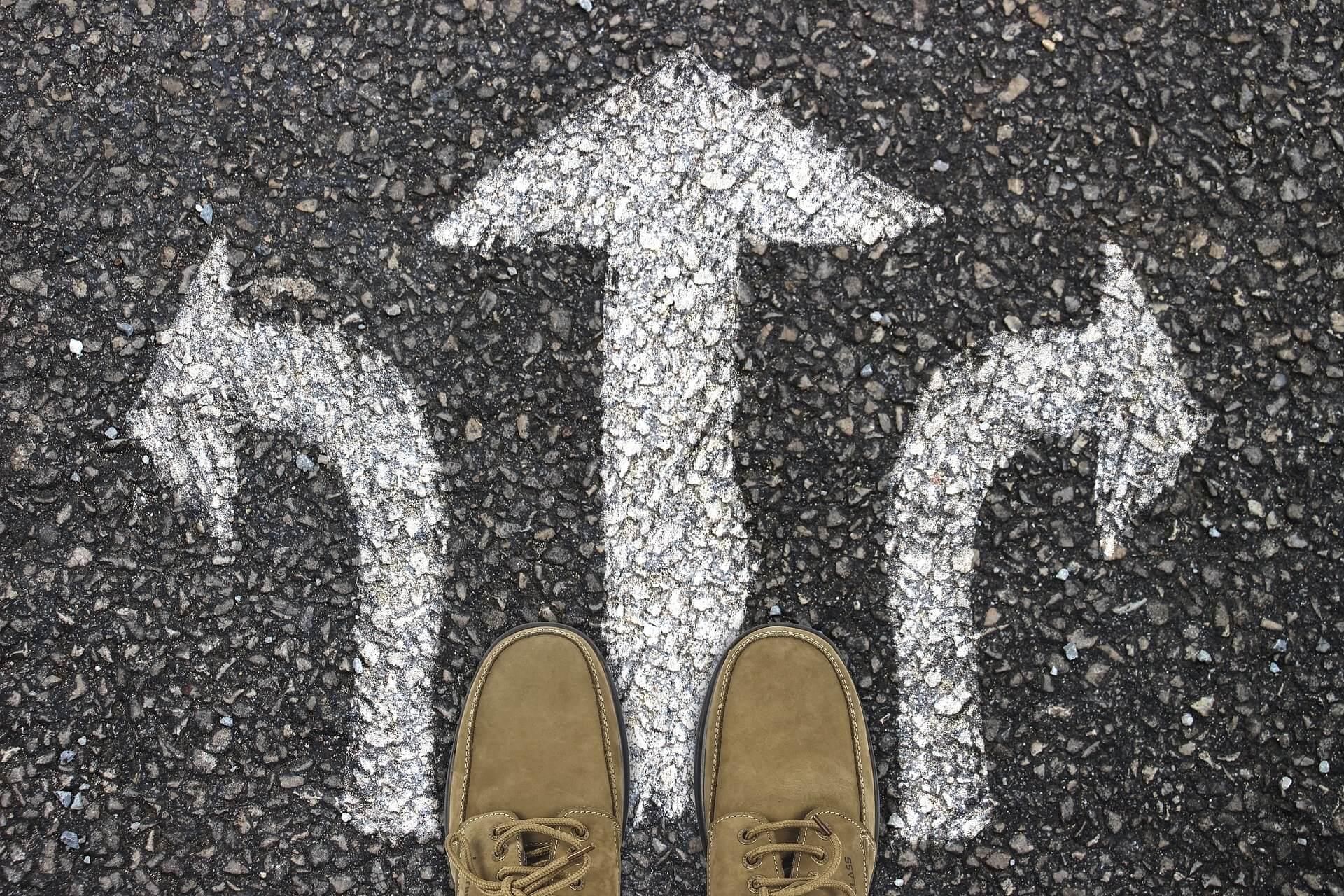 flèche chemin choix