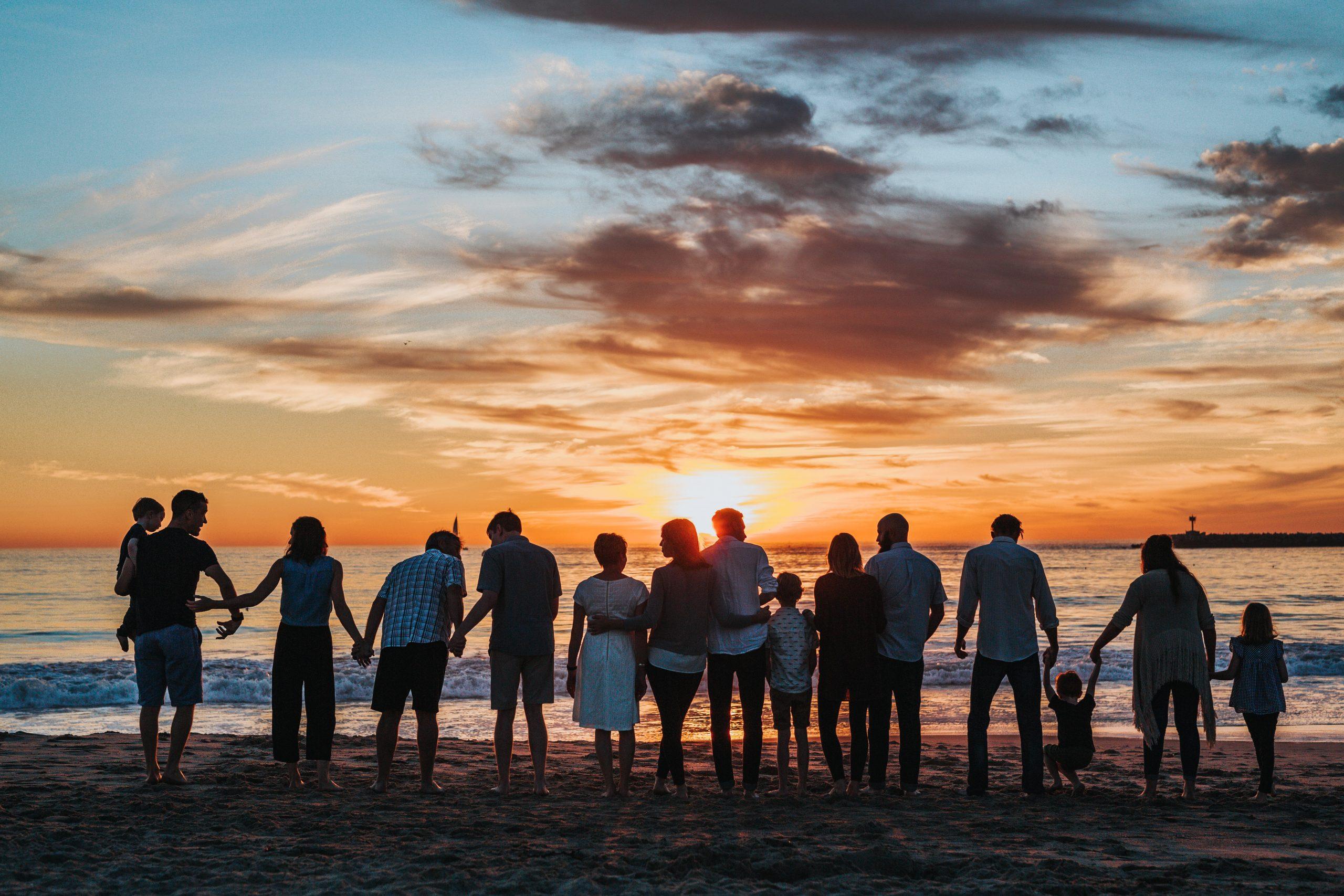 Famille vacances plage personnes