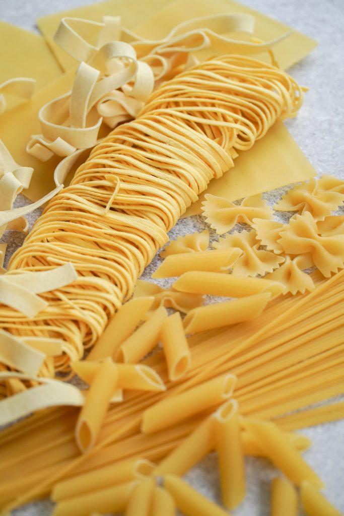 plusieurs sortes de pâtes